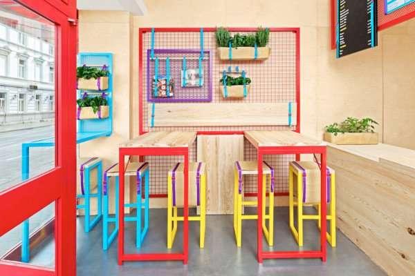 colores en un restaurante